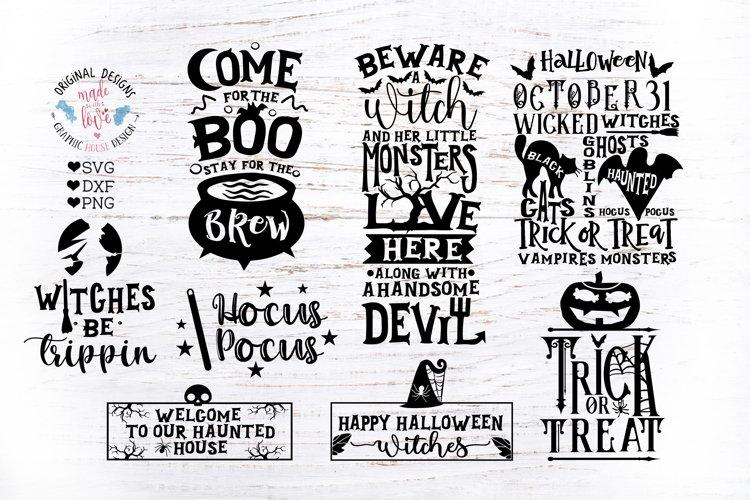 Happy Halloween Mini Halloween Bundle in SVG DXF EPS example image 1