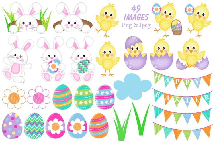 Easter clipart, Easter bunny graphics & illustrations - Free Design of The Week Design1