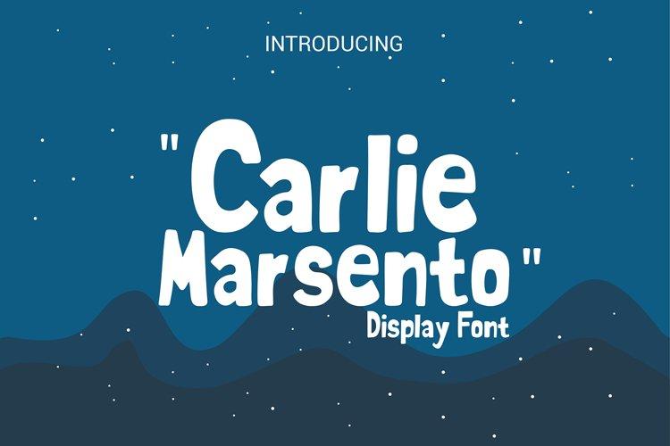 carlie marsento Display font example image 1