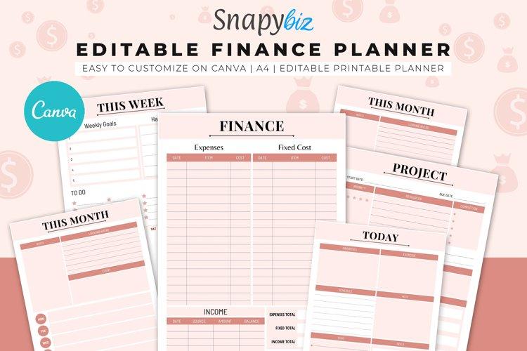 Finance Canva Editable Planner example image 1