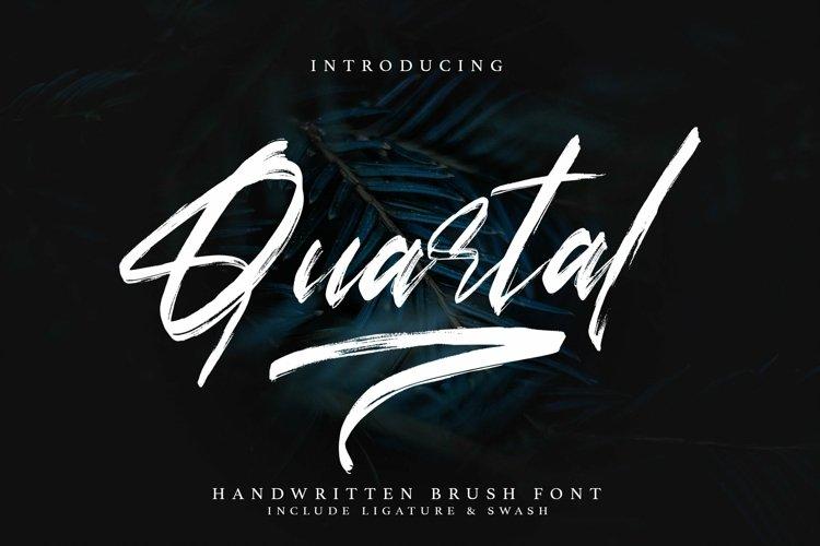 Web Font Quartal - Brush Signature Font example image 1
