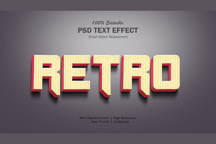 3D Retro Text Effect example image 1