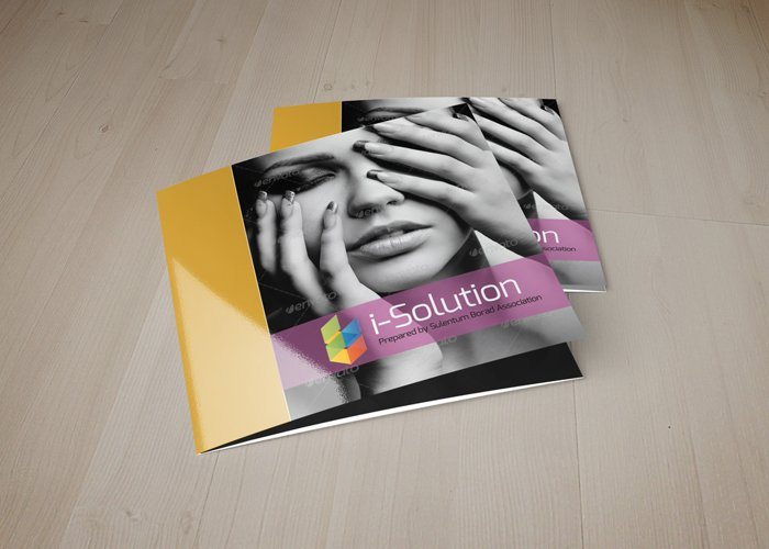 Beauty & Fashion Square Trifold Brochure example image 1
