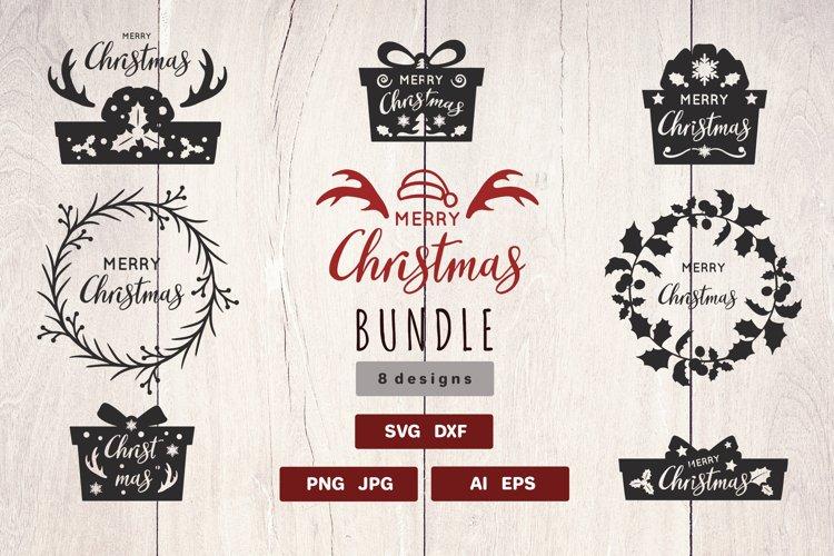 Christmas SVG silhouette Bundle    Cut files example image 1
