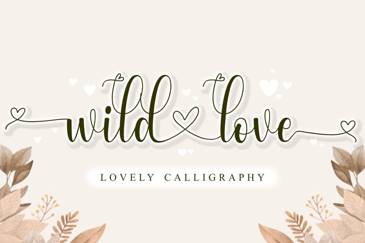 Wild Love - Lovely Calligraphy example image 1