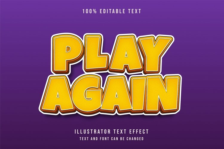 Play again - Text Effect example image 1