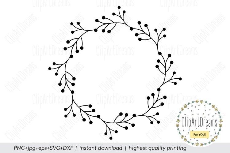 Floral wreath SVG Monogram frame cutting file