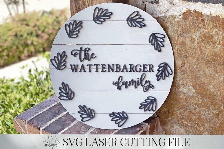"Shiplap Sign | 17-18"" Circle Slat Laser Cutting Design | SVG"
