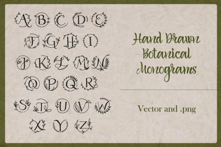 Botanical Monograms example image 1