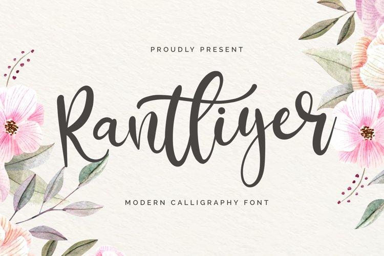 Rantliyer - Modern Calligraphy Font example image 1
