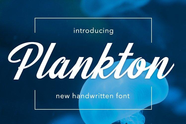 Web Font Plankton example image 1
