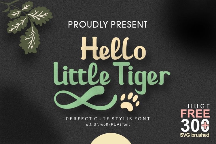 Hello Little Tiger example image 1
