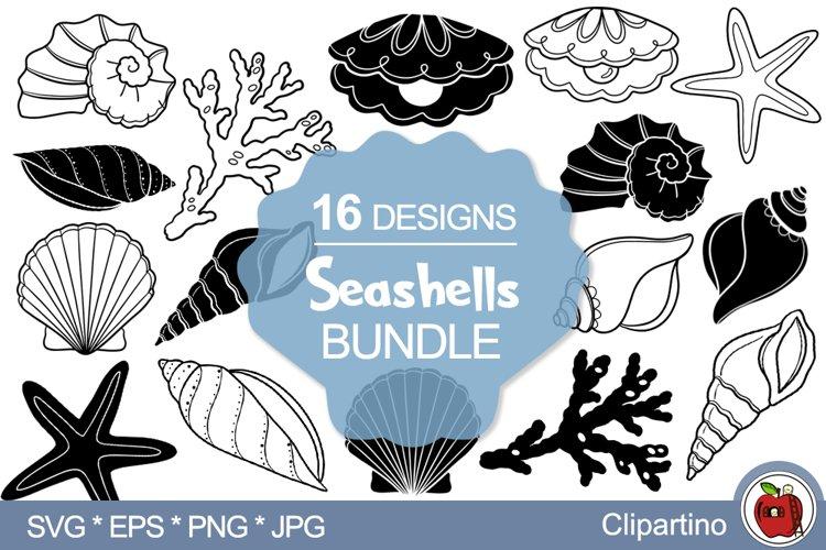 Seashells SVG Bundle-Seashell vector cut files