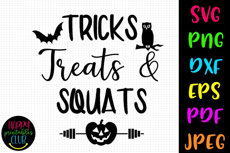 Tricks Treats and Squats Halloween Workout SVG-Halloween SVG example image 1