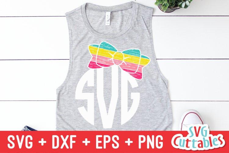 Bow SVG | Bow Monogram Frame example image 1