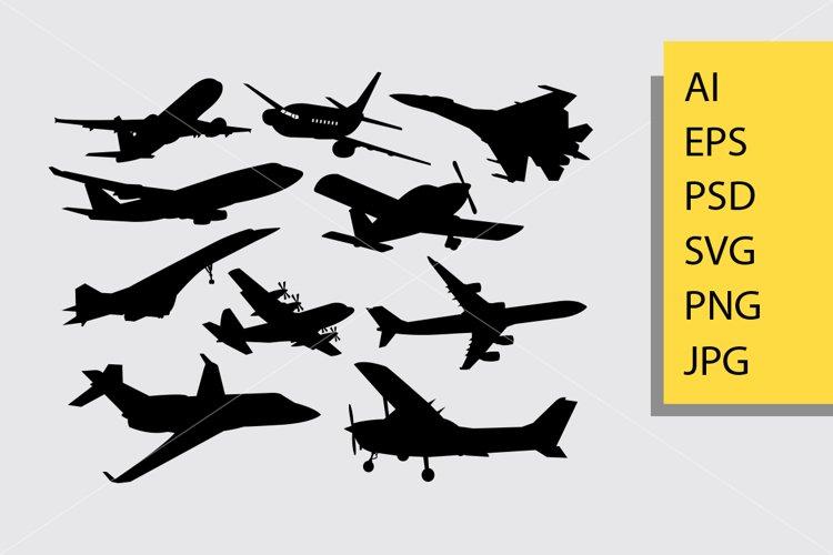 airplane silhouette example image 1