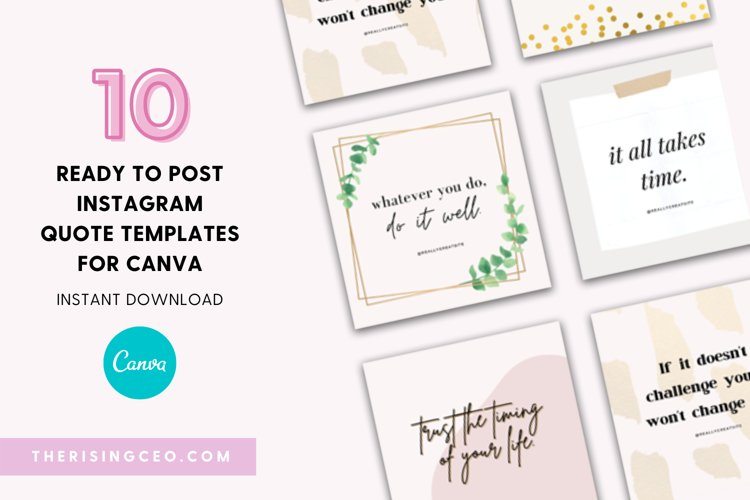 10 Instagram Ready To Post Quotes Canva Templates example image 1