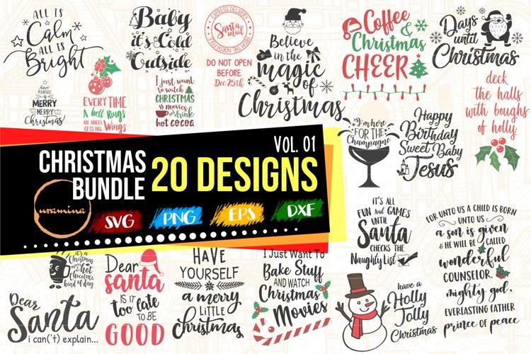 Christmas Bundle 20 Designs Cut - Printable - Sublimation