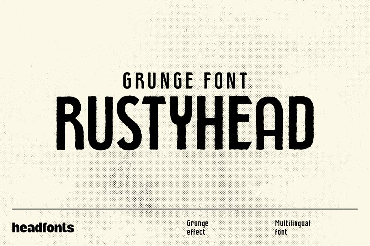Rustyhead Typeface   Font example image 1