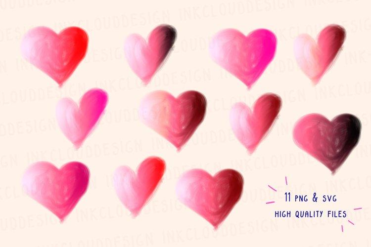 Heart Valentine SVG Sweet Cute Clip Art Illustrations Hearts example 1