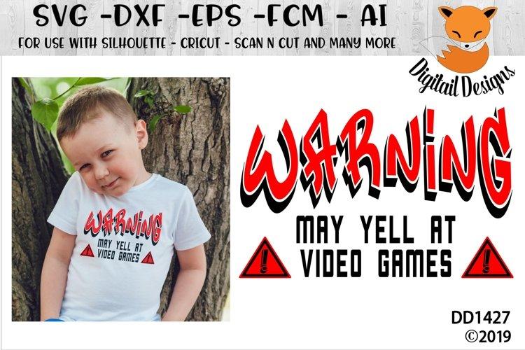 Video Gamer Warning SVG