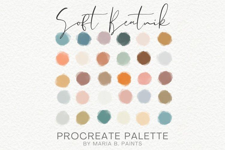 Soft Procreate Palette Bohemian Beatnik Color Scheme Art example 1