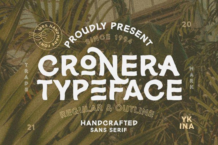 Cronera - Handcrafted Typeface example image 1