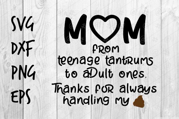 Mom thanks SVG design example image 1
