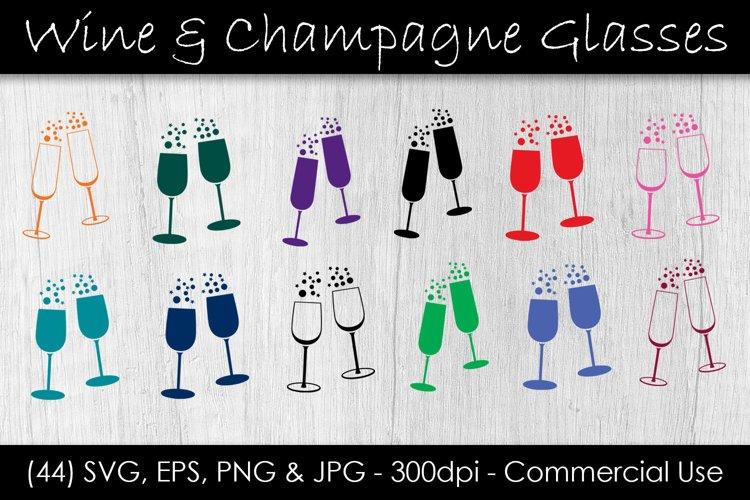 Download Wine Champagne Glass Svg Bundle Wine Glass Clip Art 407974 Cut Files Design Bundles