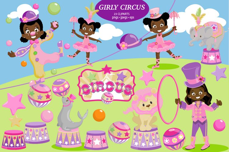 African American Pink Circus pac example image 1
