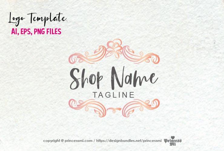 business logo template, elegant floral vintage , logo design example image 1