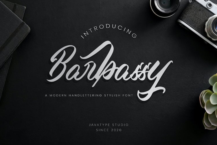 Barbassy - A Modern Hand lettering Script example image 1