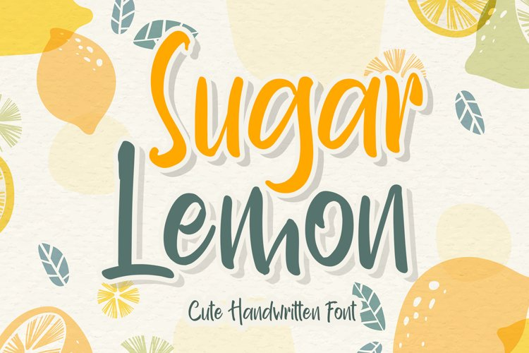 Sugar Lemon example image 1