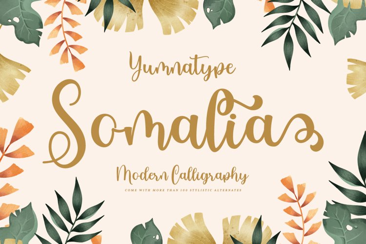 Somalia - Script Font