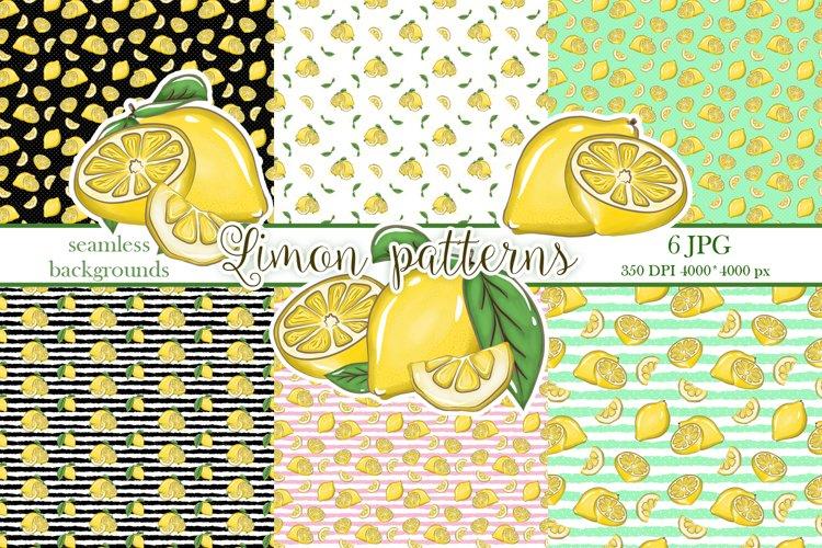 Lemon patern, Fruit backgrounds, Lemonade example image 1