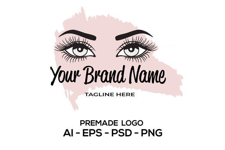 Lash Logo Design, Beauty Logo, Feminine Logo