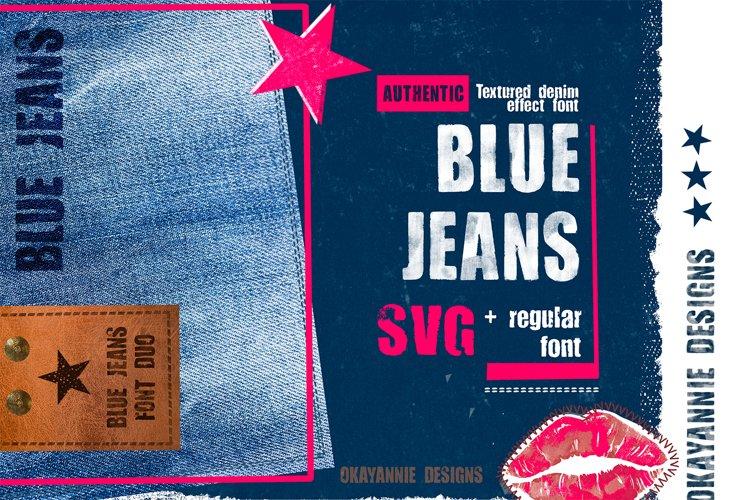 Blue Jeans SVG and Regular Font