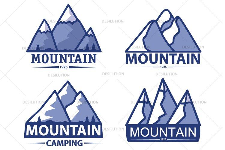 Mountain travel logo. example image 1