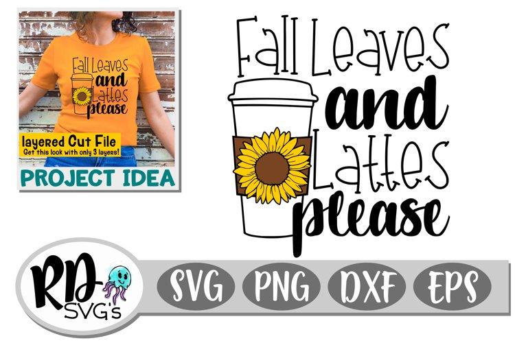 Fall Leaves and Lattes Please - A Fun Fall Cricut Cut File example image 1