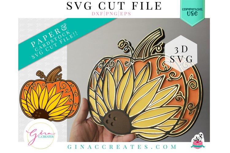 Layered Pumpkin Sunflower Mandala SVG Cut File