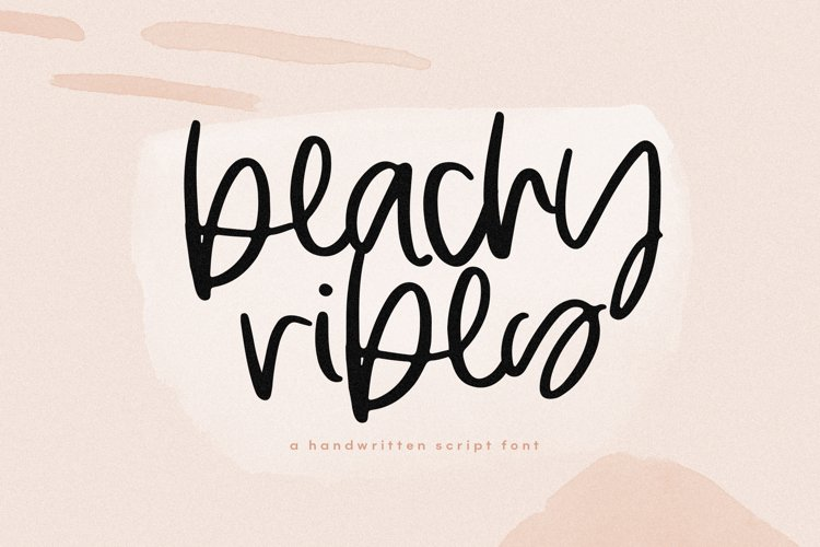 Beachy Vibes - Handwritten Script Font with Extras example image 1