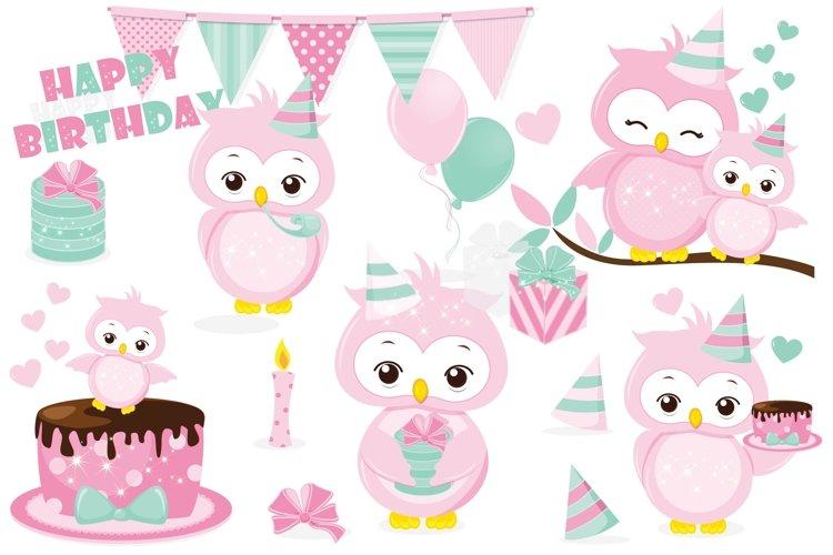 Birthday owl clipart, Birthday owl graphics example image 1
