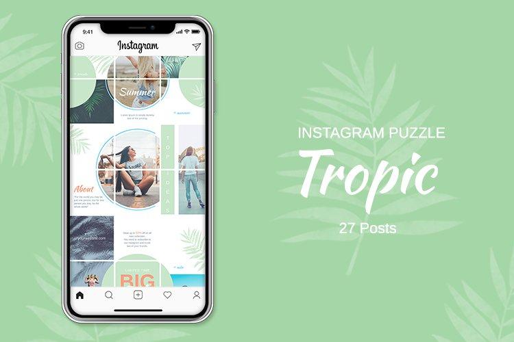 Instagram Puzzle Template - Tropic