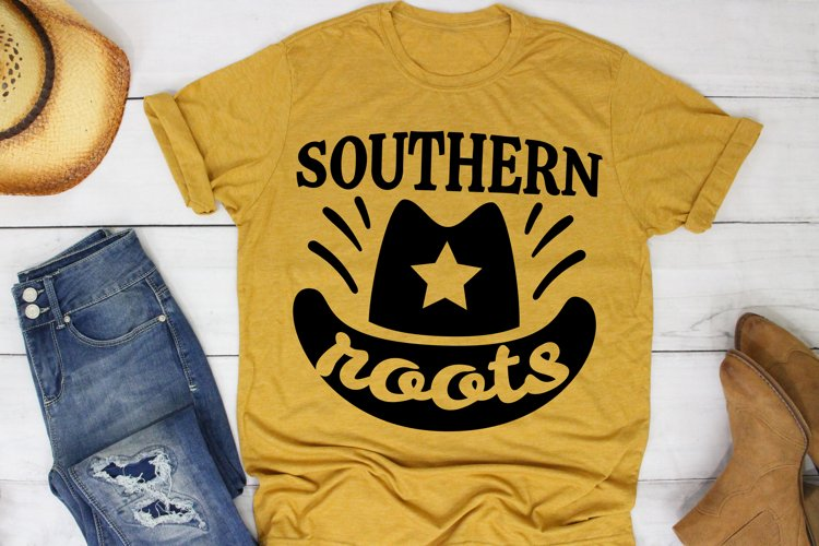 Southern Roots SVG Southern, Farm Girl SVG files for Cricut example image 1