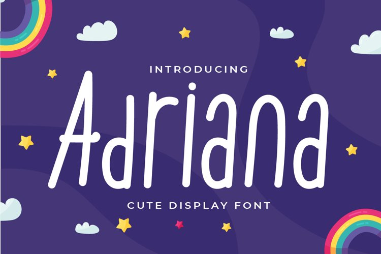 Adriana - Cute Display Font example image 1