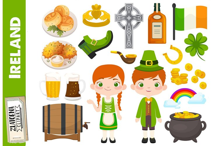 Ireland clip art Irish graphics St Patricks Day Clipart example image 1
