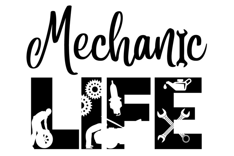 Mechanic Life SVG Cutting File for the Cricut