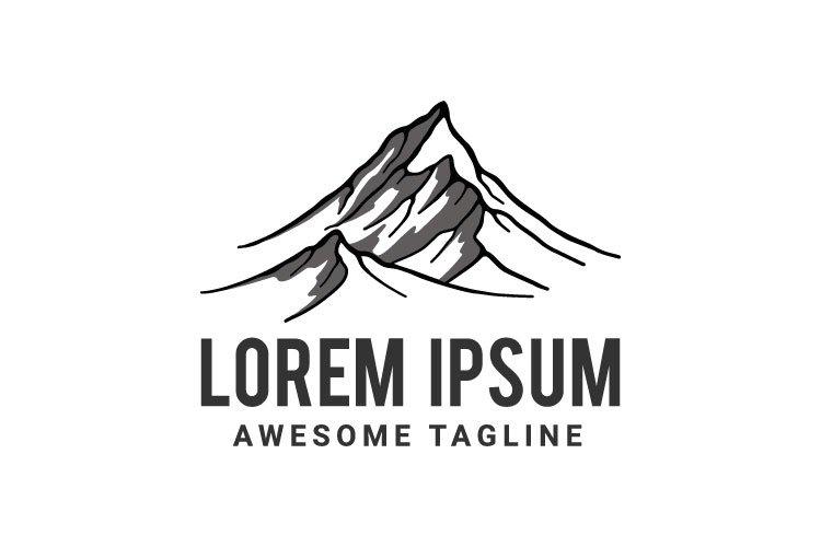 Mountain vector logo template. example image 1