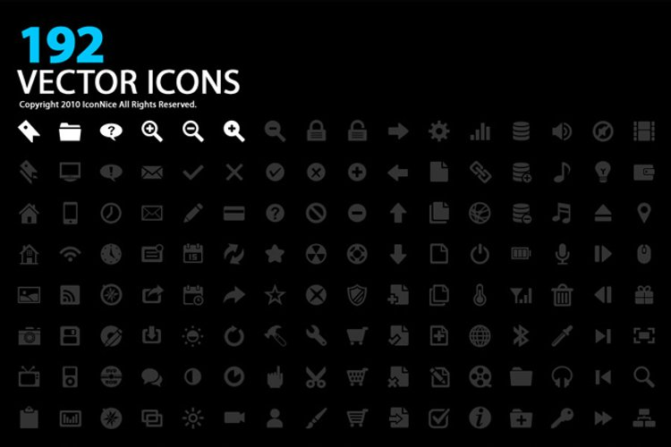 Icons(192 Vector Icons) example image 1