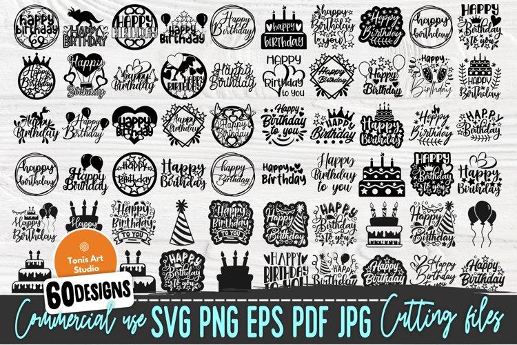 Happy Birthday SVG, Birthday Svg, Cake Topper Svg, Png
